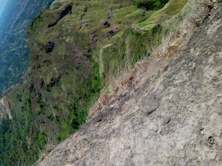 A shot I took at the edge of the summit. That's a long way down if you fall.