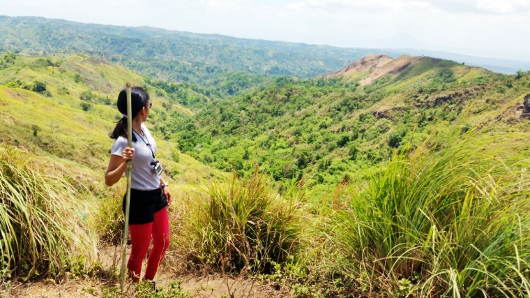 My trusty bamboo stick and the incredible view