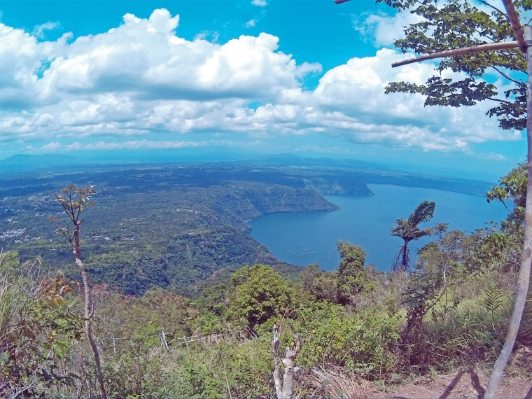View of taal lake