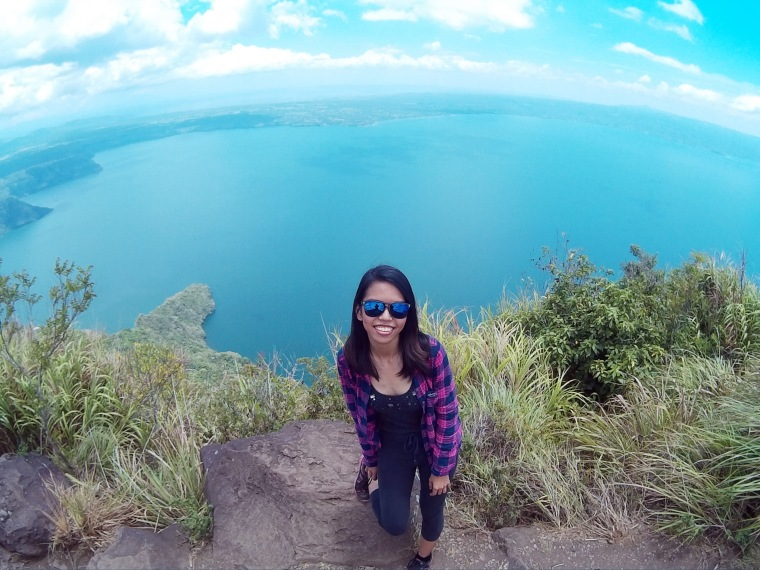 Amazing view of the taal lake behind me
