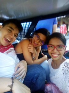 Tricycle ride. I was sitting on the floor by the way. Lol
