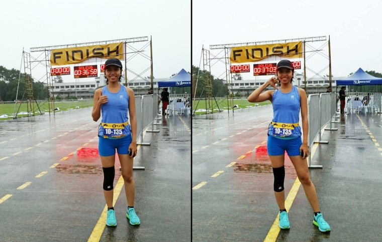 Thumbs up for the organizers who decided to reschedule the race. Thumbs down for the typhoon that caused the race to be canceled in the first place. :(
