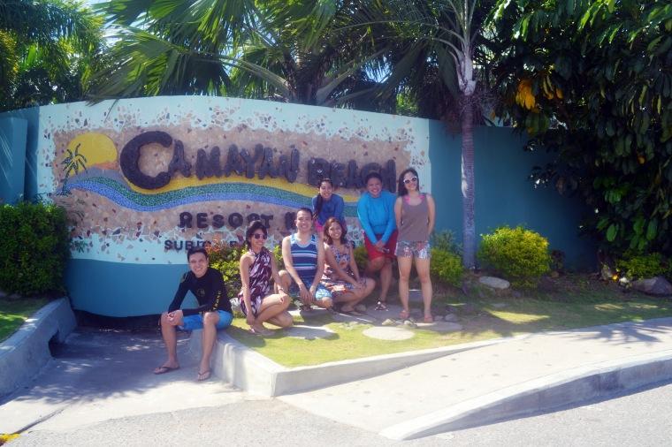 Mandatory group photo outside Camayan Beach Resort and Hotel